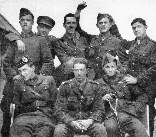 Officers of 60 Squadron, Meintjes front right